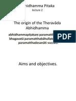 Origin of Abhidhamma Pitaka