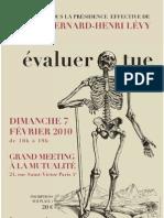 """20100207 Forum des Psys """"Évaluer Tue"""" - Affiche A4"""