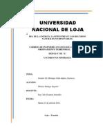 Yacimientos Minerales Carbonatados en El Ecuador