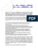 A Atuação Dos Fiscais Federais Agropecuários No Ministério Da Agricultura