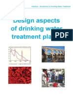 Design Aspects of Drinking Water Plant