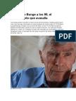 Reportaje a Mario Bunge a los 95 años