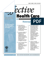 Effectiveness of Homeopathy