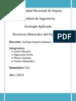 Minerales Del Paraguay