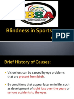 blindness in sports