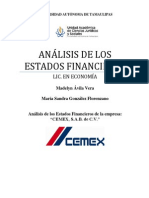 Analisis de los Estados Financieros de Cemex