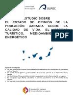 Estudio Sobre El Estado de Opinión de La Población Canaria