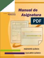 Aprobado Manual de Equilibrio Quimico Para Ingeniería Química