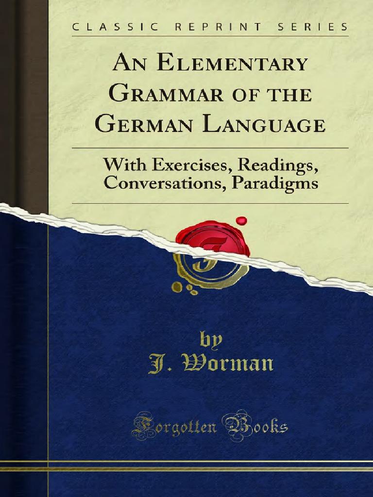 Alte Pornen an elementary grammar of the german language 1000052650
