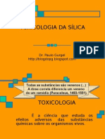 TOXICOLOGIA DA SÍLICA