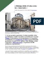 A Paris, Anne Hidalgo Dédie 23 Sites à Des Projets Urbains « Innovants »