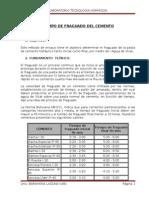 Dato tecnico boliviaTiempo de Fraguado Del Cemento