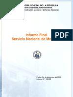 Informe Final Servicio Nacional de Menores-diciembre 2009