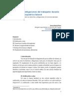 Derechos y obligaciones del trabajador durante la licencia psiquiátrica laboral
