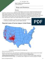 cdc - maps  statistics - plague