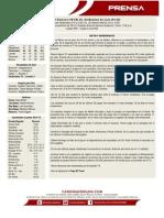 Boletin de Prensa 44 Leones - Cardenales