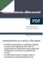 Recalque diferencial