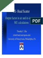 Head Scatter Impact MU Calculations