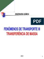 AULA 1 - Introdução à Transferência de Massa