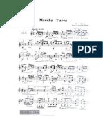Alla Turca Rond Da Sonata Em L Maior K331 Partitura Violao