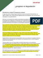 Hidroelectricas Progreso vs Degradacion Ecologica