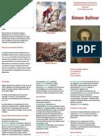 Triptico de Simon Bolivar