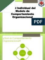 Nivel individual de comportamiento organizacional