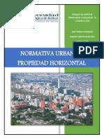 Trabajo de Aspectos Legales y Financieros. Normativa Urbana y Propiedad Horizontal.