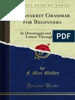 A Sanskrit Grammar for Beginners 1000213438