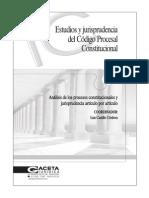 Estudios y Jurídicos Del Código Procesal Comstitucional