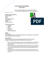 personal finance 2014-15 syllabus