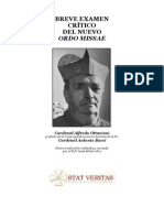 Breve Examen Critico Del Novus Ordo Missae(Ottaviani Bacci)