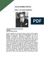 Nicolas Gomez Davila