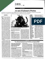 1999 Mes trois mois d'isolement à Pristina_Courrier int 451