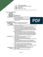 UT Dallas Syllabus for atec4370.502.07s taught by Garman Herigstad (gch061000)