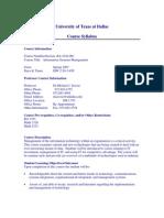 UT Dallas Syllabus for ba4324.001.07s taught by Michael Savoie (msavoie)