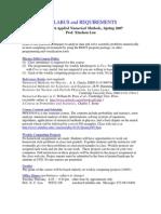 UT Dallas Syllabus for phys5416.501.07s taught by Xinchou Lou (xinchou)