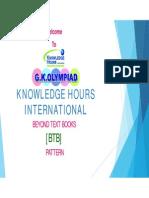 KNOWLEDGE HOURS Btb