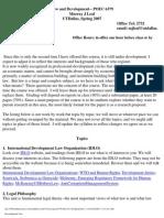UT Dallas Syllabus for poec6379.002.07s taught by Murray Leaf (mjleaf)