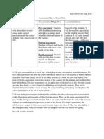 assessment plan 5