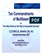 Ten Comandments of Multibeam