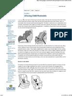Forward-facing Child Restraints - CPSBestPractice