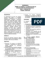 Seminario Sobre La Teoria y La Practica de La Evaluacion Psicopedagogica 1