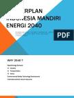 Masterplan Indonesia Mandiri Energi 2040