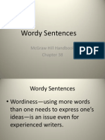 Wordy Sentences