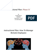 instructional plan - phase iv
