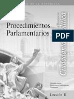 Curso II Proced. Parlamentarios Leccion 2