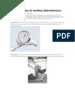 Diferentes Tipos de Turbinas Hidroeléctricas