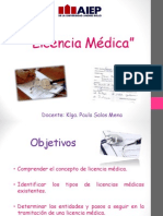 9 Licencia Médica Clase