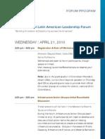 LALF8 Agenda